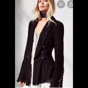 Free People Flared Sleeve Jacket lace victorian S